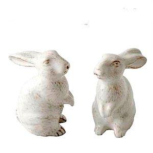 Juliska Le Panier Bunny Whitewash Salt/Pepper Set